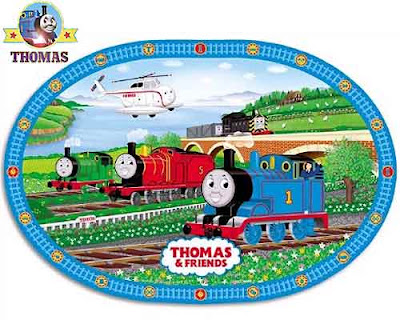 Thomas and his Friends toddler tableware set the Sodor Island images fictional railway landscapes