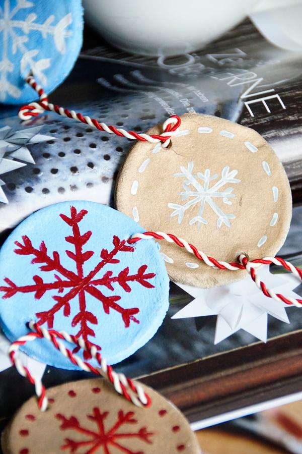 diy salzteig deko selber machen, Girlande aus Salzteig basteln