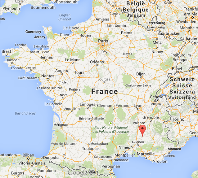 Nyons, France is a lively town in the Drome department