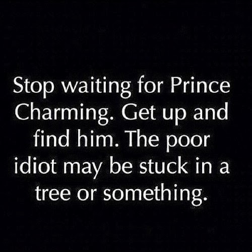 i love funny quotes should you wait for your prince charming