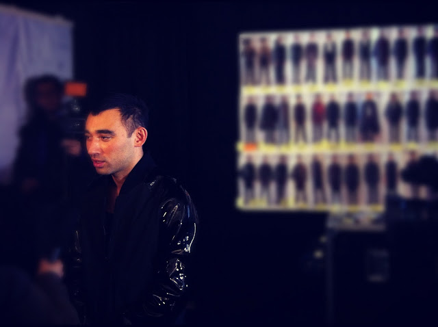 Nicola Formichetti MUGLER FALL WINTER 2012 2013 BACKSTAGE PARIS MENS FASHION WEEK