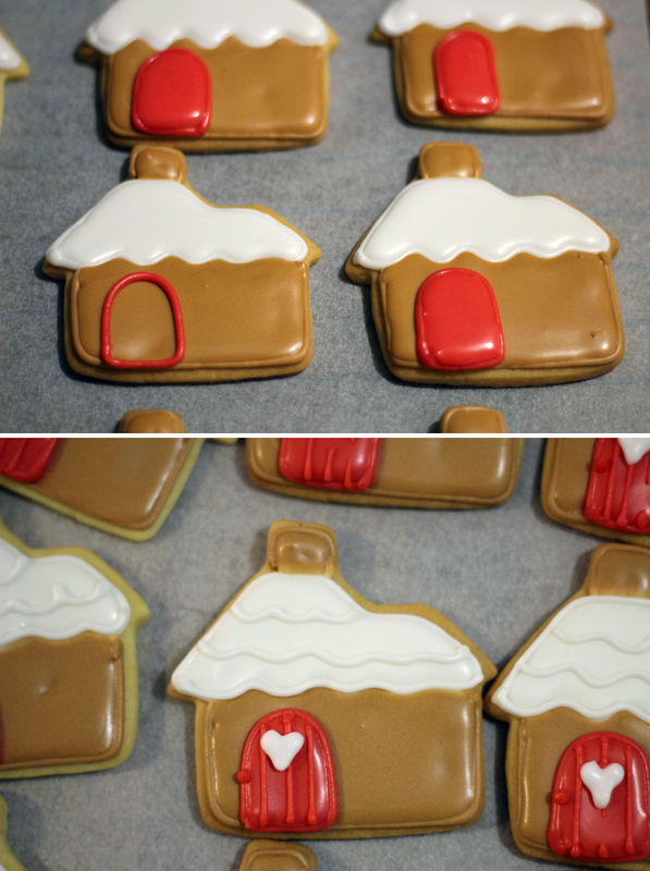 Butter Hearts Sugar Gingerbread House Stand Up Sugar Cookies