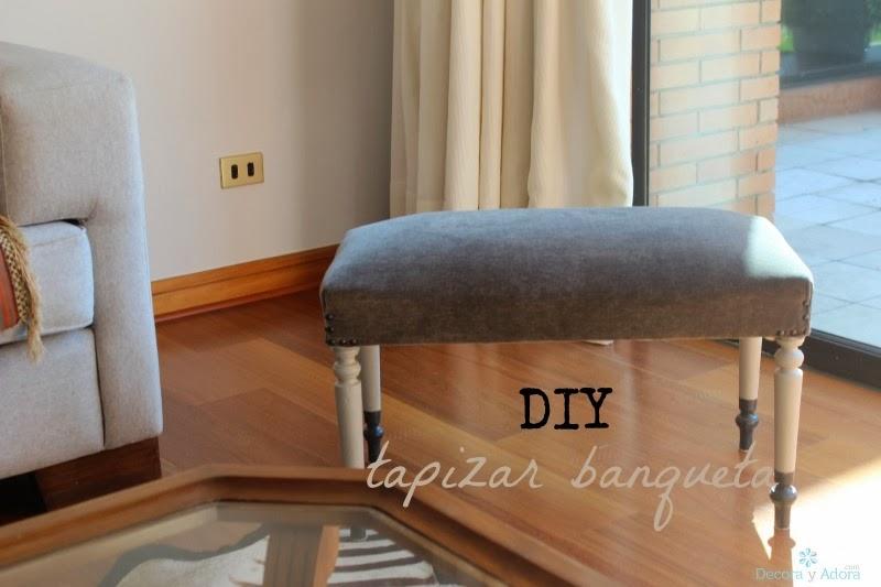 Decora y adora diy como tapizar banqueta - Como tapizar una banqueta ...
