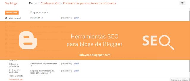 Herramientas SEO para blogs de Blogger