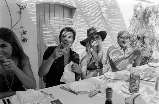 Photo - Alain Delon and Brigitte Bardot in Saint Tropez, 1968