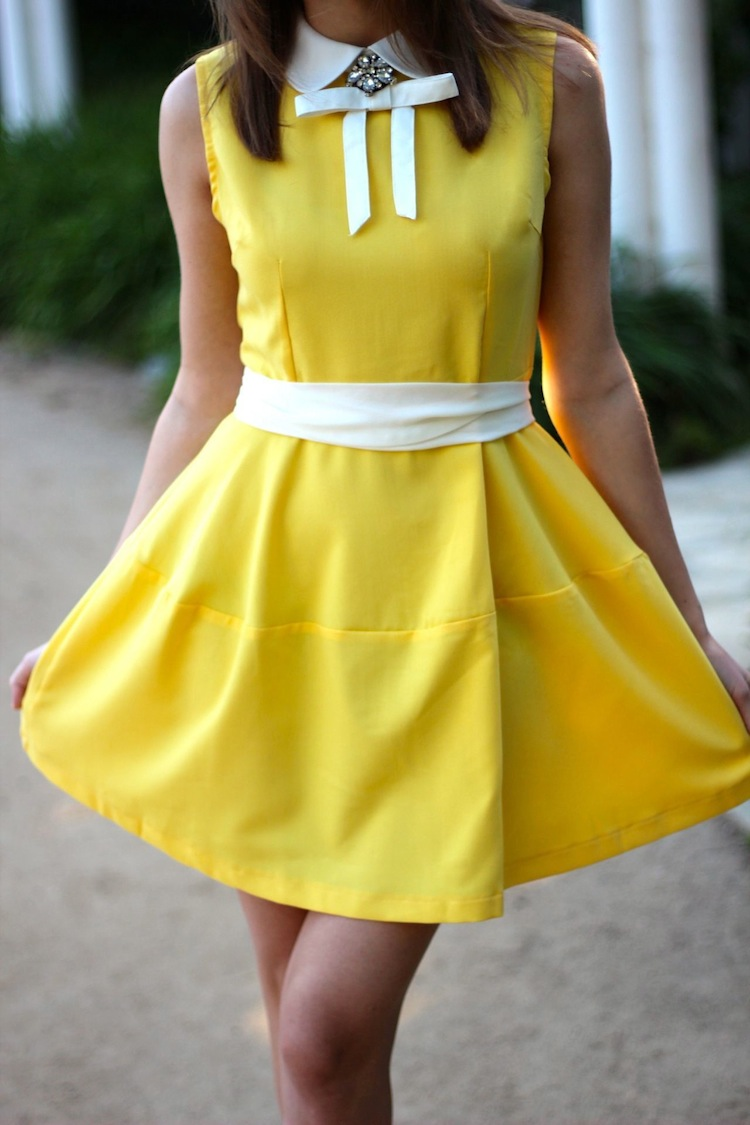 Black and yellow dress shoes