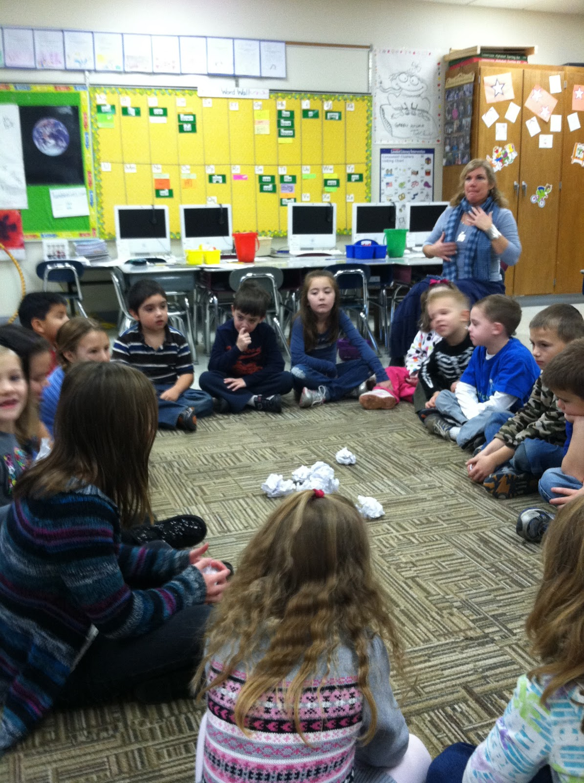 Snowball greetingresponsive classroom taming my flock of firsties as part of our morning meeting this week our greeting is the snowball greeting they put their names on paper and crumple it all up and thent m4hsunfo