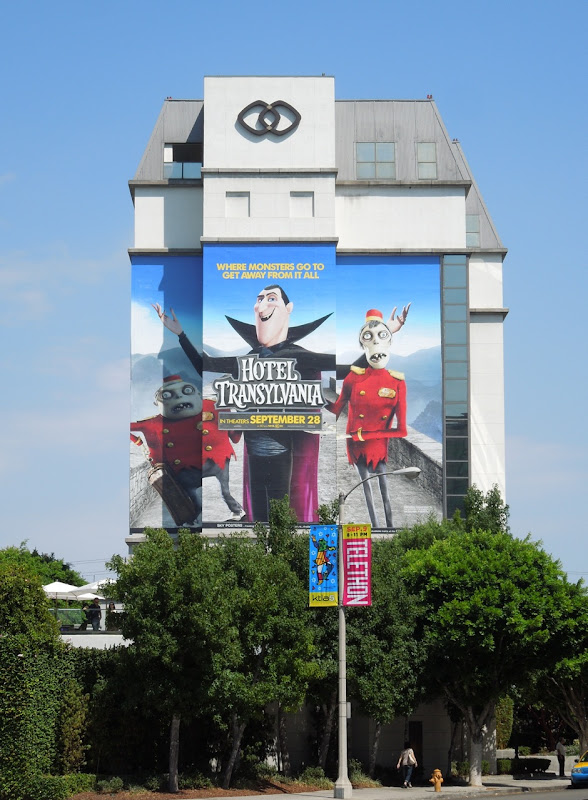 Giant Hotel Transylvania movie billboard
