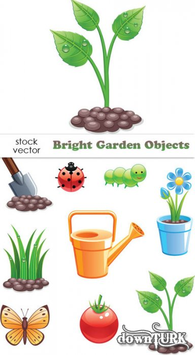 Bright Garden Objects