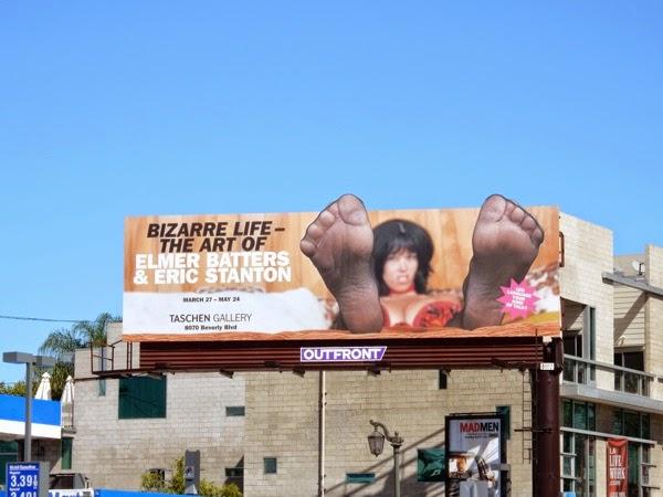 Bizarre life Taschen Gallery feet special billboard