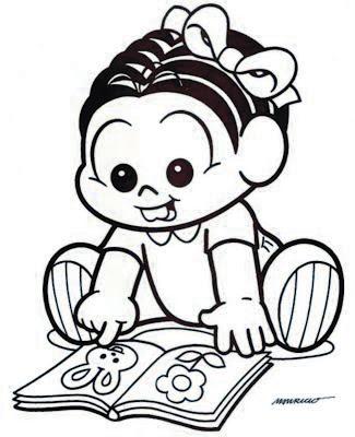 Desenho da Mônica Bebê para Colorir