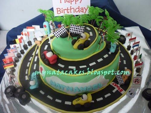 Mynata Cakes: Racing Car Birthday Cakes