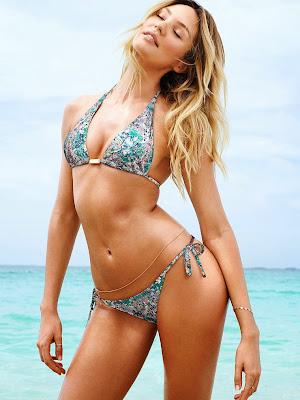 Candice Swanepoel Models Victorias Secret Bikinis