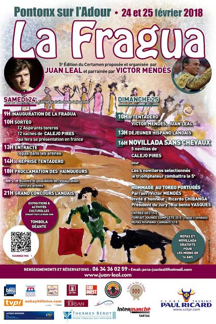 PONTONX SUR L´ADOUR (FRANCIA) DIAS 24-25 FEBRERO 2018 FESTIVAL TAURINO PARA LOS MAS JOVENS.
