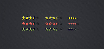 Review & Rating Stars (PSD)