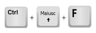 Tasti di scelta rapida CTRL+MAIUSC+F