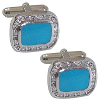 Men's Jewelry Cufflinks in Sterling Silver and Gemstone