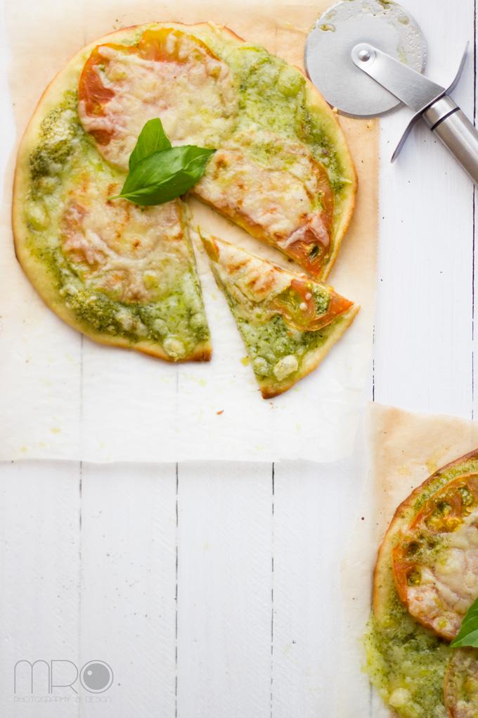 Pizza al pesto, Cocinando espero
