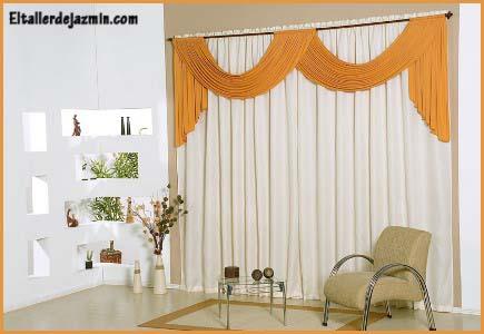 Informe las cortinas for Cortinas blancas para sala