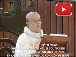 VIDEO DE LA HOMILÍA DEL SR. OBISPO, DEL DÍA  25 DE NOVIEMBRE DE 2018