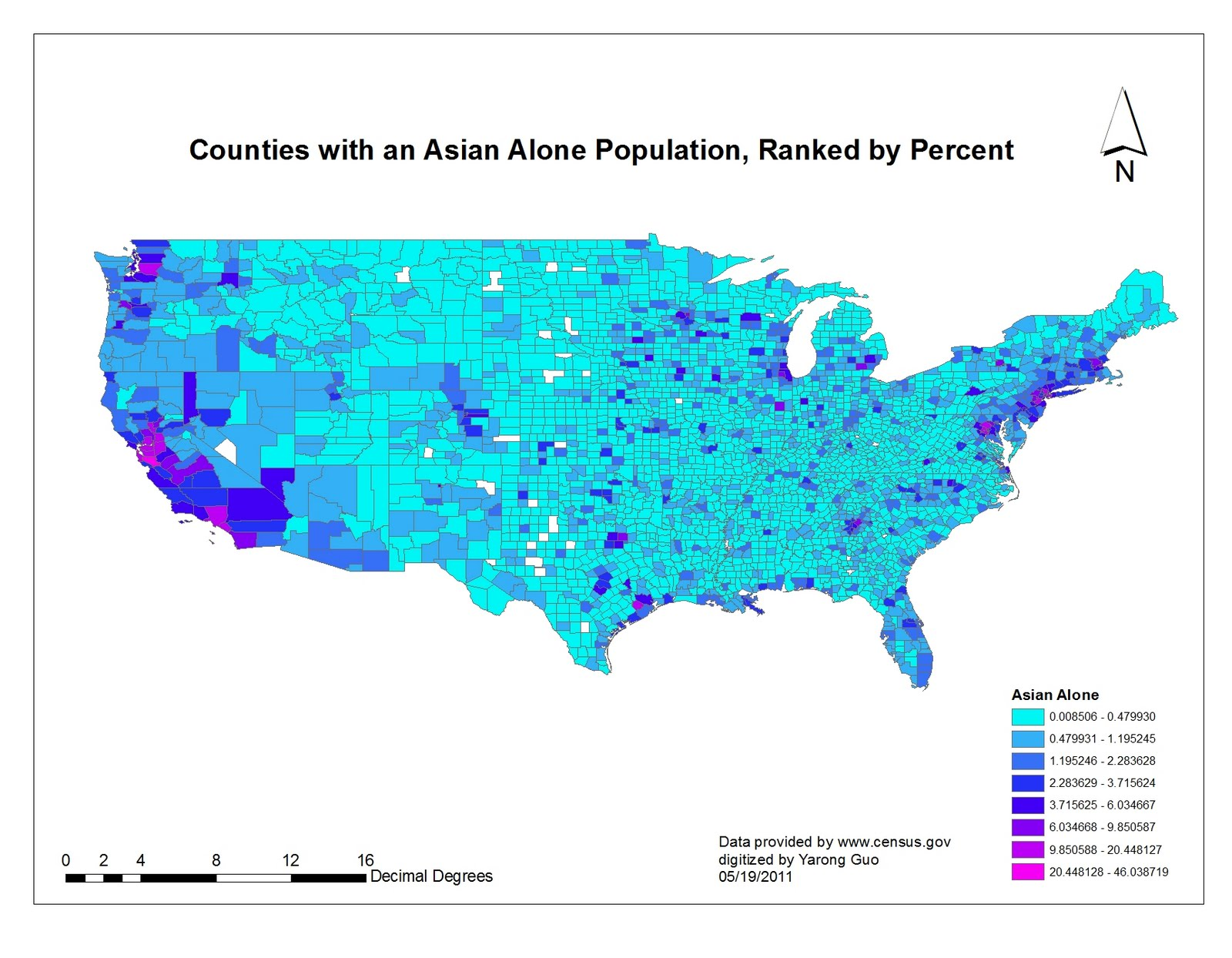 however as suggested by the statics a majority of counties as black alone population