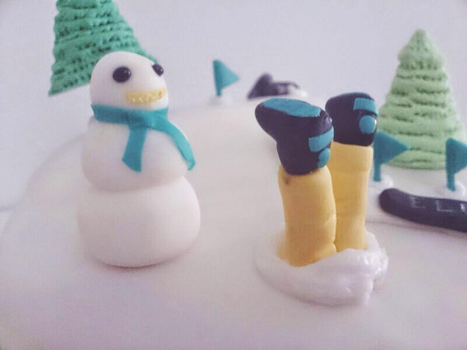 tartas, fondant, tutoriales, muñeco de nieve fondant, tartas fondant