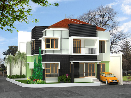 Modern homes latest exterior front designs ideas Modern Home