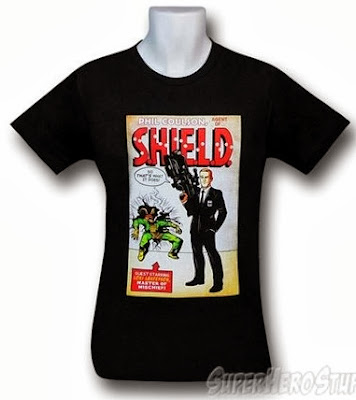 Click here to purchase S.H.I.E.L.D. Coulson's Gun 30 t-shirt at SuperHeroStuff!