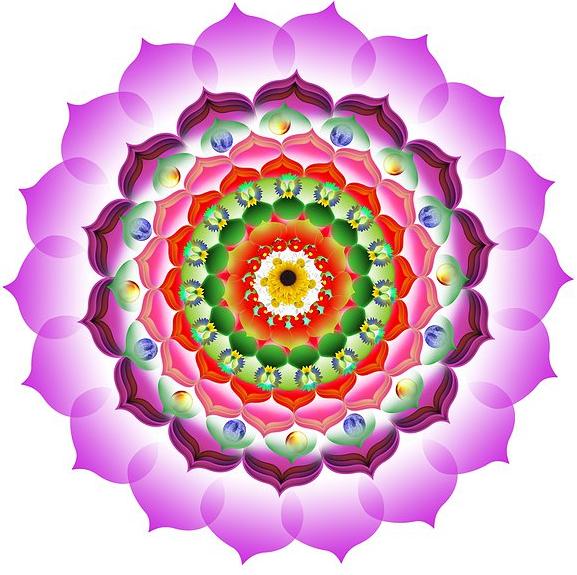 Mandalas reiki y flores interpretaci n de los colores de - Colores para mandalas ...