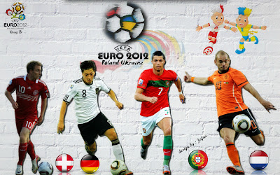 Euro 2012 Participant - Group B Wallpapers - Portugal France Denmark Germany