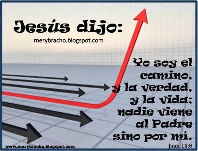Postal Jesús dijo yo soy el camino. Postales cristianas. Postales de dios Jesús dijo Yo soy el camino, la verdad y la vida.  El camino es Jesús.Imágenes con versos de Dios. Jesús es mi camino.  Postales con versículos de la Biblia.