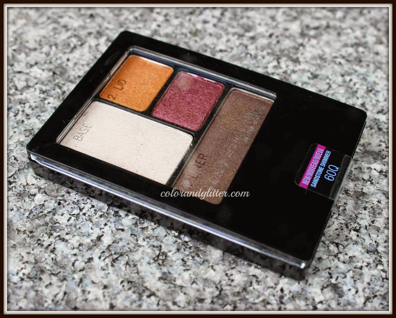 Maybelline ExpertWear Shadow Quad in Sandstone Shimmer || Review & Swatches