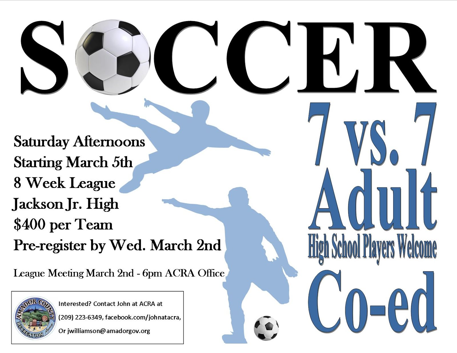 Adult Co-Ed Soccer - League Meeting Mar 2