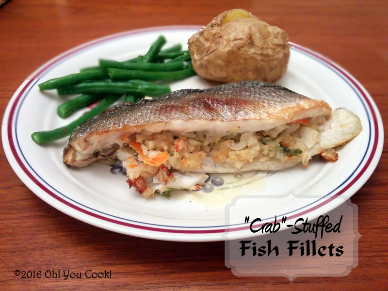 Crab stuffed fish fillets for Stuffed fish fillets