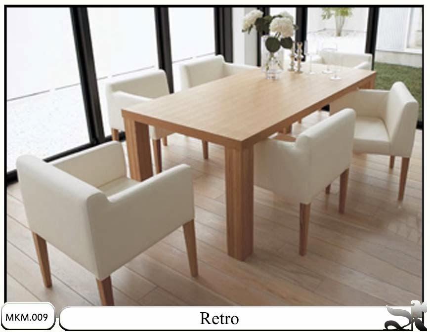 set meja makan model minimalis retro allia furniture