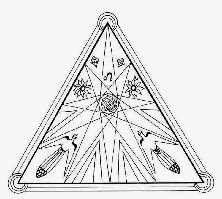 download energy fire triangle mandala coloring pages special for you - Triangle Instrument Coloring Page