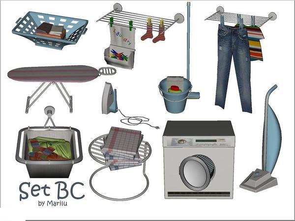 Contenido Personalizado para Sims 4: Set de lavanderu00eda ...