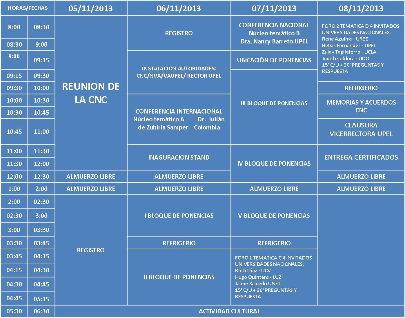 Cronograma de eventos 2016 jdccppcom cnc cronograma del evento for Cronograma jardin infantil 2015
