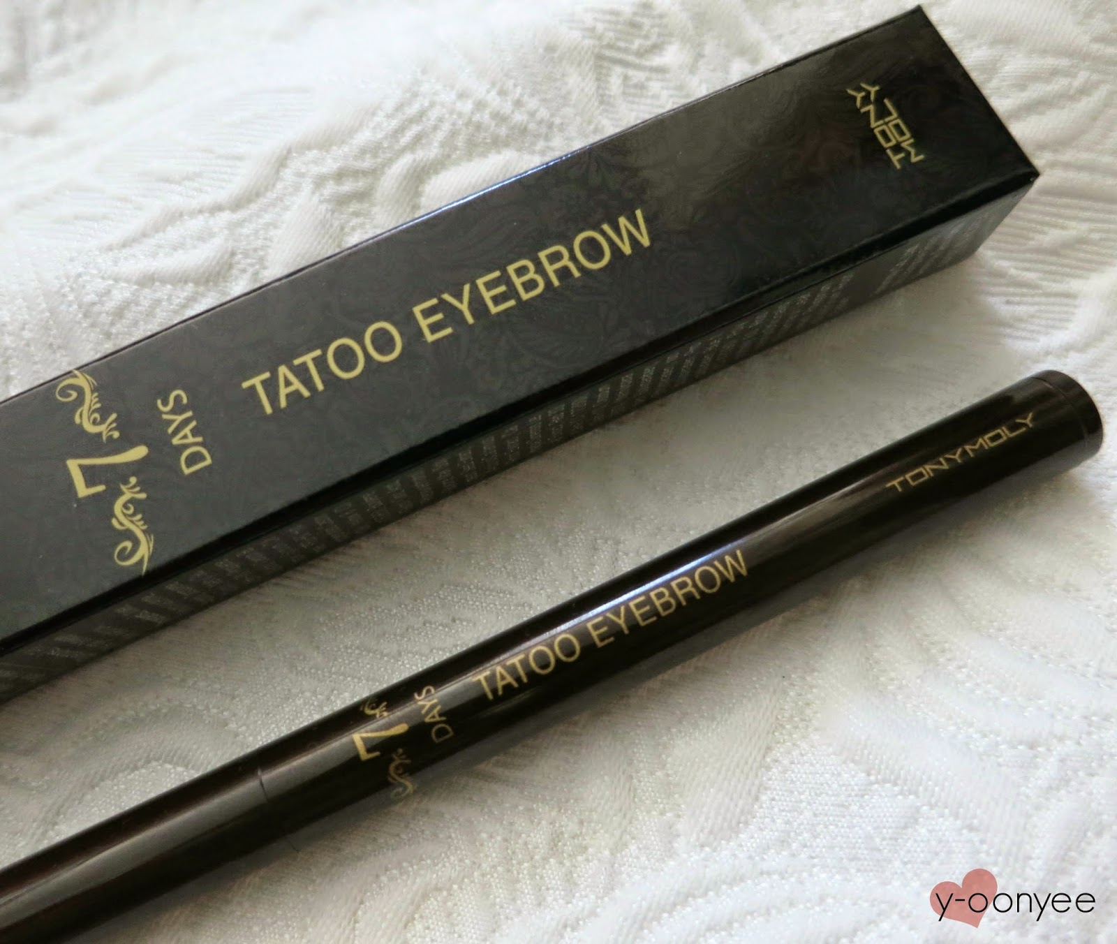 Tony Moly 7 Days Tattoo Eyebrow In 02 Dark Brown Review Yoonyee