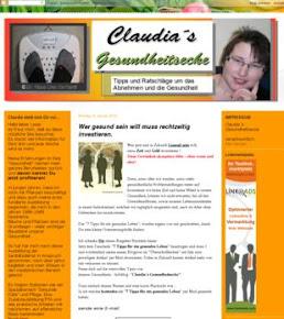 Empfehlung: Blog von Claudias Gesundheitsecke