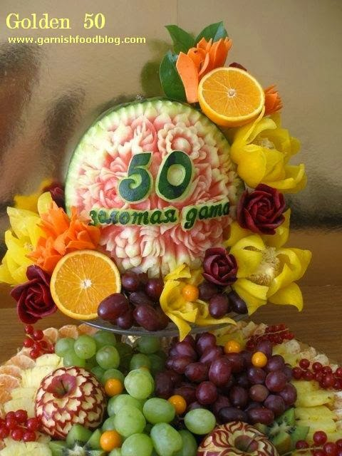 fruit carving with oranges
