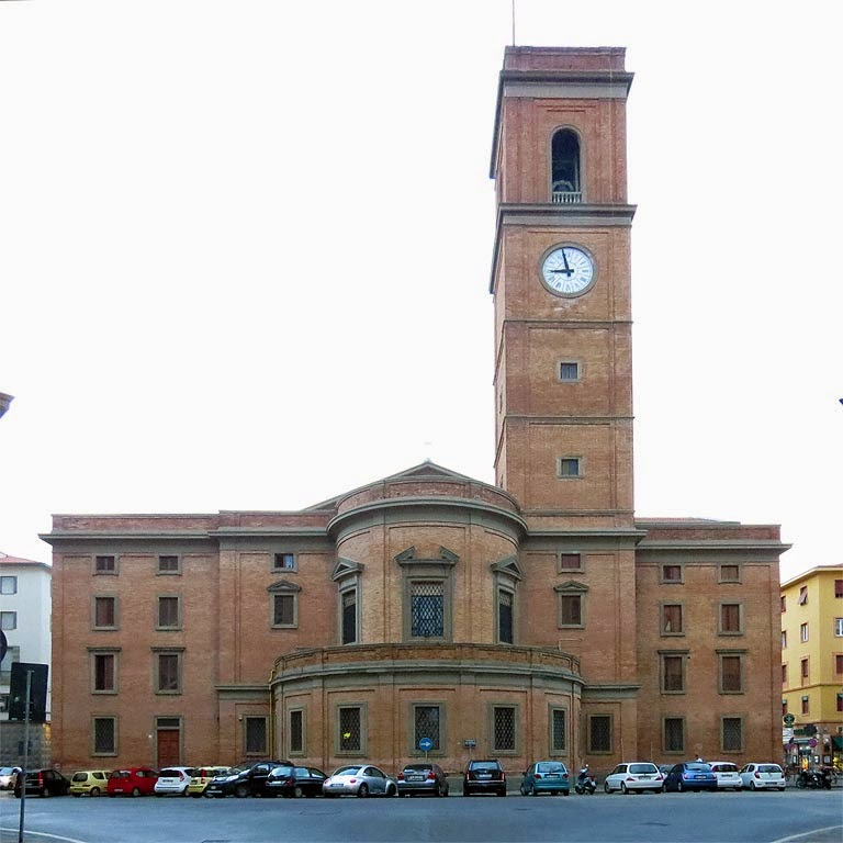 The back of the Cathedral, largo del Duomo, Livorno