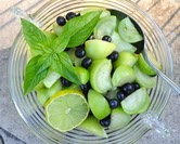 Raw Tomatillo Salad with Blueberries (A Veggie Venture)