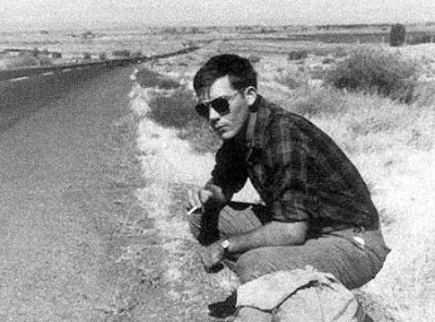 Hunter S. Thompson hitchhiking before the days of Gonzo