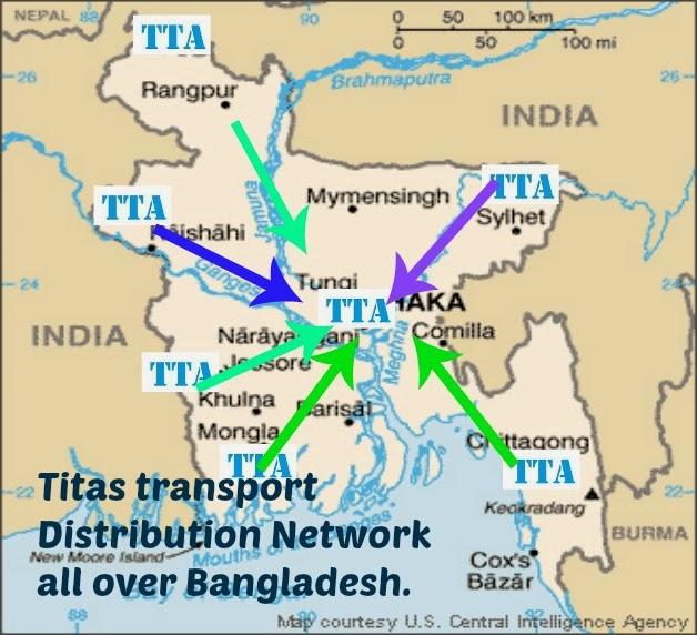 Titas transport Transportation distribution network in Bangladesh.