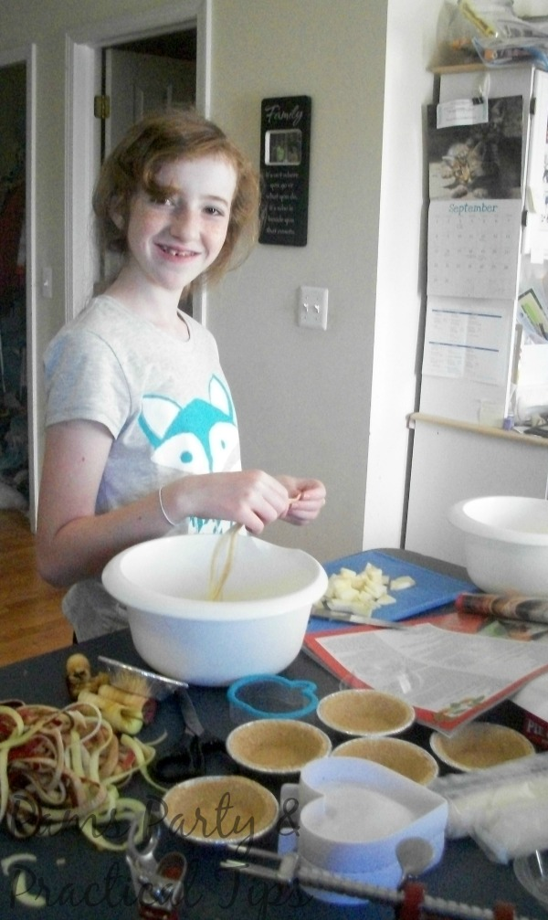 Preparing the Apples for the Pops and Pies