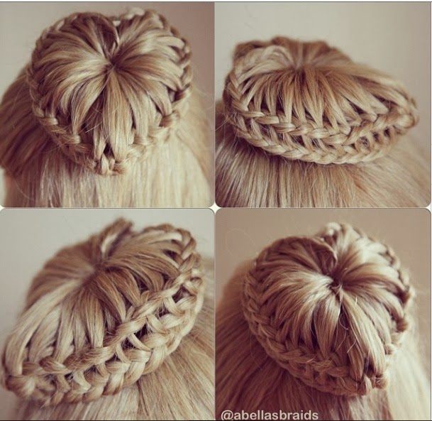 braided bun hairstyles girls