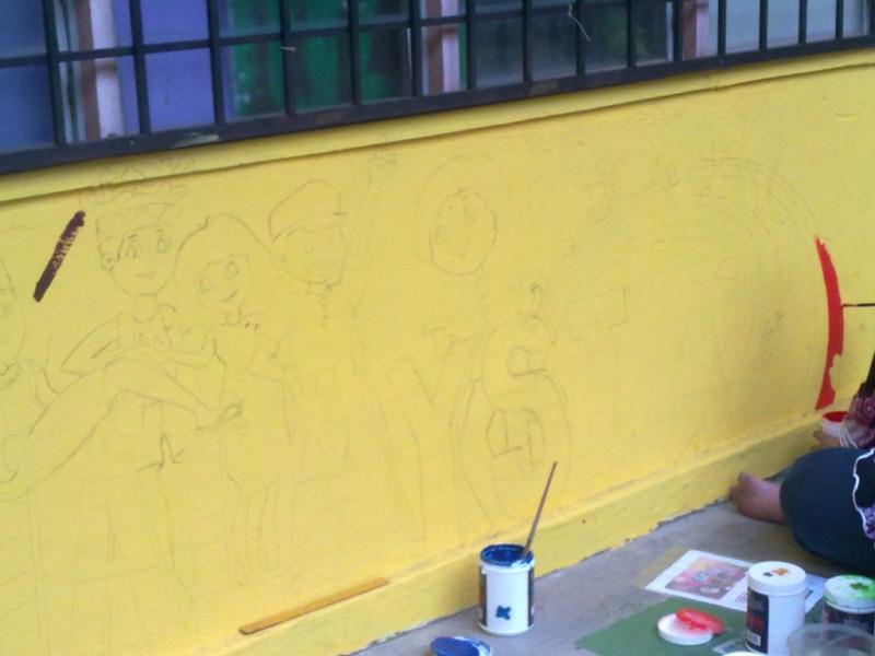 Prasekolah permata aktif projek mural 2012 for Mural yang cantik