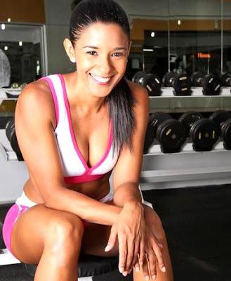 Rocío Miranda en el gimnasio