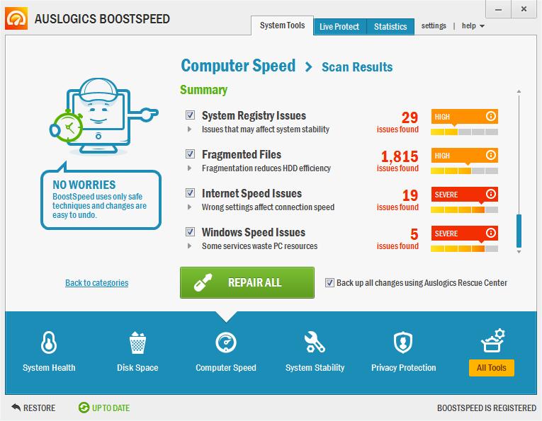 Чтобы скачать Auslogics BoostSpeed - программа для ускорения работы компьют